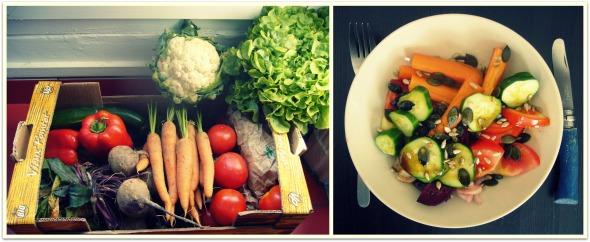 Copulation de légumes dans la cuisine.
